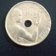 Monedas República: MONEDA 25 CENTIMOS 1934 REPUBLICA ESPAÑOLA. Lote 244439015