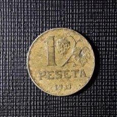 Moedas República: II REPÚBLICA 1 PESETA 1937 MBC-. Lote 244590320