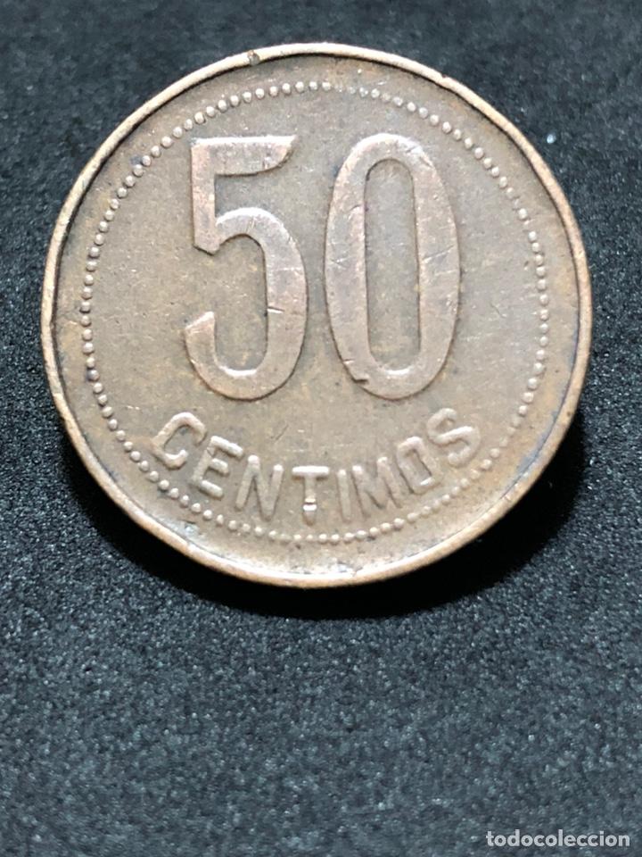 Monedas República: Moneda de 50 céntimos 1937 - II República Española - Foto 2 - 244754575