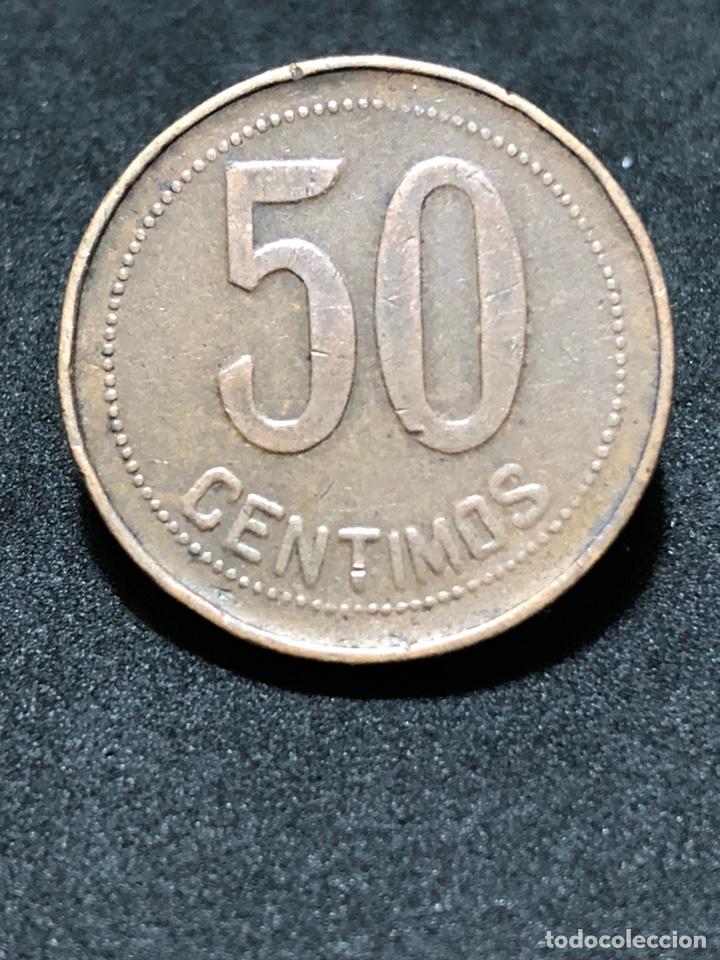 Monedas República: Moneda de 50 céntimos 1937 - II República Española - Foto 4 - 244754575