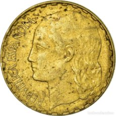 Monedas República: MONEDA, ESPAÑA, PESETA, 1937, MADRID, MBC+, LATÓN, KM:755. Lote 244956500