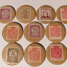 Monedas República: SELLOS MONEDA. GUERRA CIVIL. LOTE 10 UNIDADES.. Lote 245114165
