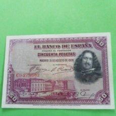 Moedas República: BILLETE DE 50 PESETAS DE 1928.MUY BIEN CONSERVADO.. Lote 245241115
