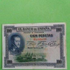 Monedas República: UN BILLETE DE 100 PESETAS DE 1925. USADO.. Lote 245242375