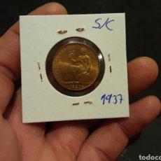 Monete Repubblica: MONEDA 50 CENTIMOS 1937 SEGUNDA REPÚBLICA ESPAÑOLA SIN CIRCULAR. Lote 245292120