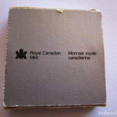 Monedas República: CANADA . UN DOLAR DE PLATA ANTIGUO. AÑO 1985 . EN SU ENVASE ORIGINAL DE LA ROYAL CANADIAN MINT. Lote 245358955