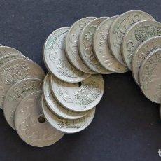 Monedas República: 20 MONEDAS DE 25 CÉNTIMOS. 1937 BANDO NACIONAL.. Lote 245958675