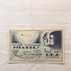 Monedas República: CONSELL MUNICIPAL FIGUERES. 1 PESSETA. MARÇ 1937. IND. MADRIGUERA COL·LECTIVITZADA. BARCELONA.. Lote 246258910