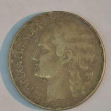 Monedas República: MONEDA DE UNA PESETA REPUBLICA ESPAÑOLA, AÑO 1937. Lote 246259005