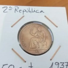 Monnaies République: 50 CENT. 1937, SEGUNDA REPÚBLICA MBC+. Lote 248167875