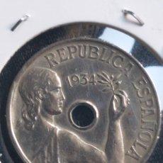 Monedas República: 25 CÉNTIMOS 1934, REPÚBLICA ESPAÑOLA. Lote 249340650