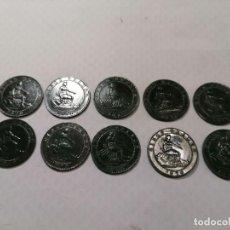 Monedas República: GOBIERNO PROVISIONAL ,10 ESPLENDIDA E IMPECABLES MONEDAS DE 5 CENT. ( EBC + ). Lote 249484550