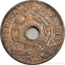 Monedas República: ESPAÑA. 25 CÉNTIMOS DE 1938. SEGUNDA REPÚBLICA. (163).. Lote 253004020