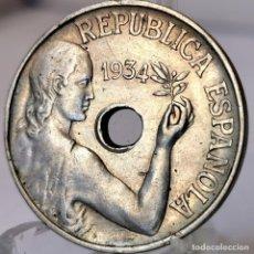 Monedas República: ⚜️ 25 CÉNTIMOS 1934. AC066. Lote 253043600