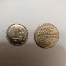 Monedas República: MONEDAS- SERIE DE SANTANDER,PALENCIA Y BURGOS-2 MONEDAS. EL 50 CTS CON PJR. Y ESTA EN FLOR DE CUÑO.. Lote 253153180