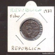Monedas República: MONEDAS DE ESPAÑA REPUBLICA 10 CENTIMOS DE 1937. Lote 253166175