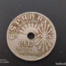 Monedas República: 25 CENTIMOS DE 1937.....BONITA......ES LA.DE LAS FOTOS. Lote 253441235
