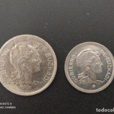 Monedas República: 1 Y 2 PESETAS DE 1937...EUSKADI....ES LA.DE LAS FOTOS. Lote 253444580