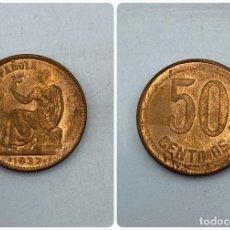 Monedas República: MONEDA. ESPAÑA. 50 CENTIMOS. AÑO 1937. S/C. ESTRELLAS ANEPIGRAFAS. VER. Lote 254718200