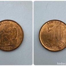 Monedas República: MONEDA. ESPAÑA. 50 CENTIMOS. AÑO 1937. S/C. ESTRELLAS ANEPIGRAFAS. VER. Lote 254718415