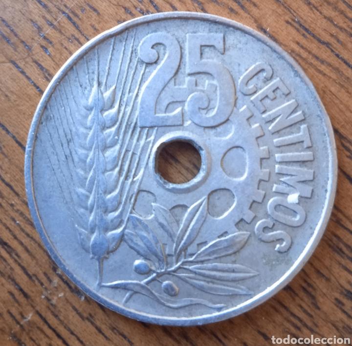 Monedas República: 25 centimos 1934 - Foto 2 - 254747020