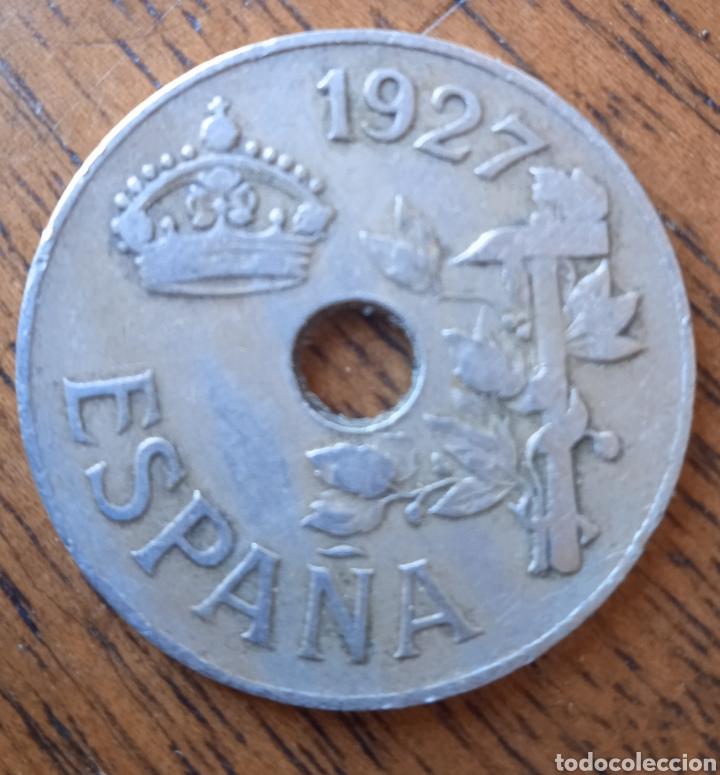 Monedas República: 25 centimos 1927 moneda - Foto 2 - 254747185