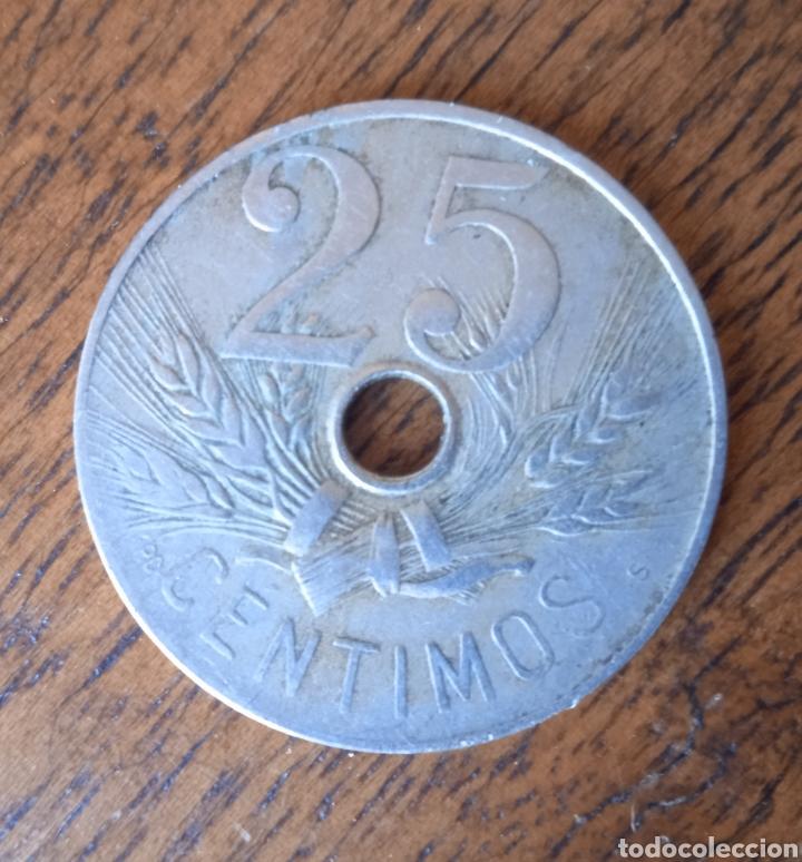 Monedas República: 25 centimos 1927 moneda - Foto 2 - 254747485