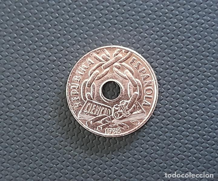Monedas República: MONEDA 25 CENTIMOS 1938 - II REPUBLICA ESPAÑOLA - SC - Foto 3 - 256126685