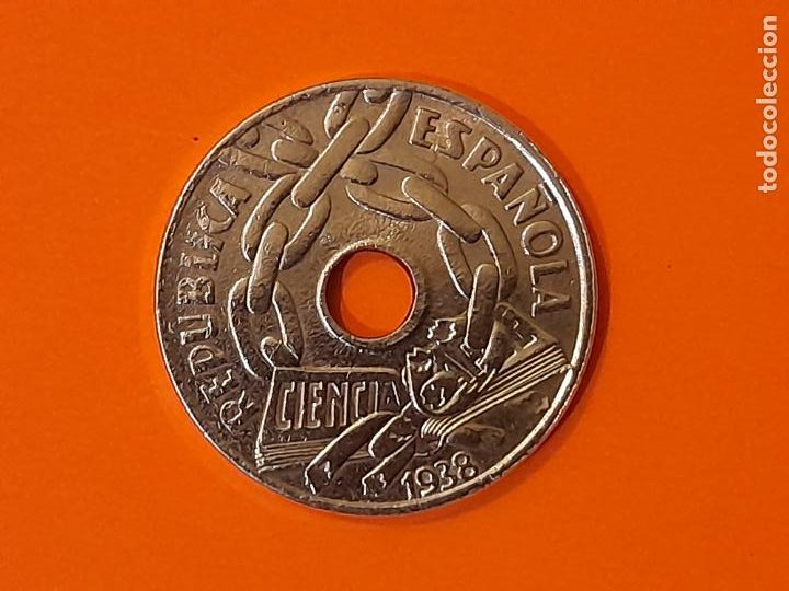 MONEDA 25 CENTIMOS 1938 - II REPUBLICA ESPAÑOLA - SC (Numismática - España Modernas y Contemporáneas - República)