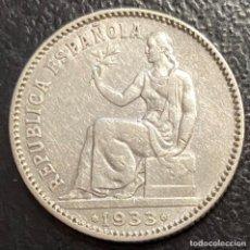 Monete Repubblica: ESPAÑA, SEGUNDA REPÚBLICA, MONEDA DE 1 PESETA DEL AÑO 1933. Lote 257781195