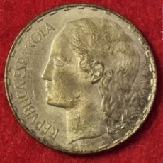 Monedas República: MONEDA 1 PESETA REPUBLICA ESPAÑOLA 1937 ESTRELLAS NO VISIBLES EBC+ ORIGINAL C4. Lote 258971865