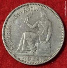 Monedas República: MONEDA 1 PESETA PLATA REPUBLICA ESPAÑOLA 1933 ESTRELLAS VISIBLES 3 4 EBC- ORIGINAL C4. Lote 258972130