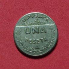 Monedas República: MONEDA LOCAL GUERRA CIVIL, CONSEJO SANTANDER PALENCIA BURGOS 1937 1 PESETA. Lote 259961175