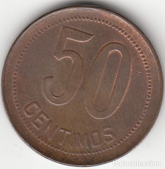 Monedas República: II REPULICA: 50 CENTIMOS 1937 - ESTRELLAS ANEPIGRAFAS / EXCELENTE CONSERVACION - Foto 2 - 259970515