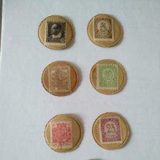 Monedas República: MONEDAS- REPUBLICA ESPAÑOLA-LOTE DE 7 DISCOS DE SELLOS-MONEDA DIFERENTES. GRAN CALIDAD. Lote 260062325