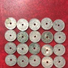 Monedas República: 20 MONEDAS DE 1937 DE 25 CÉNTIMOS. Lote 260499300