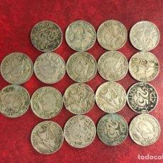 Monedas República: 18 MONEDAS DE 1925 DE 25 CÉNTIMOS. Lote 260502850