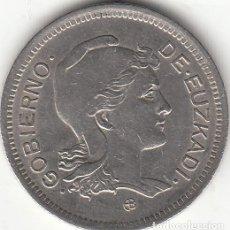 Monedas República: GUERRA CIVIL: 1 PESETA 1937 EUZKADI. Lote 260691425