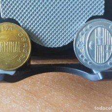 Monnaies République: RARAS MONEDAS DE 1 PTA. GUERRA CIVIL AYUNTAMENT L`AMETLLA DEL V. Y 5 CENTIMOS 1935 ESPARRAGUERA. Lote 261557330