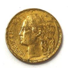 Monedas República: MONEDA DE 1 PESETA DE 1937. LA RUBIA. II REPUBLICA.. Lote 262048970