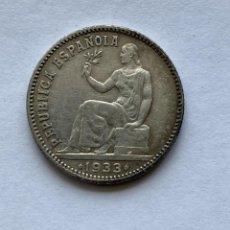 Monnaies République: MONEDA DE 1 PESETA DE LA II REPUBLICA, 1933. Lote 262096855