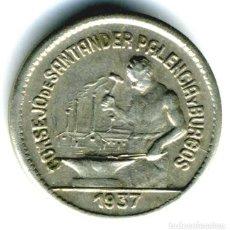 Monnaies République: XS- SANTANDER PALENCIA Y BURGOS 1937 50 CÉNTIMOS GUERRA CIVIL. Lote 262321865