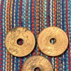 Monedas República: X- TRES MONEDAS 25 CÉNTIMOS 1938 II REPÚBLICA. Lote 262523765