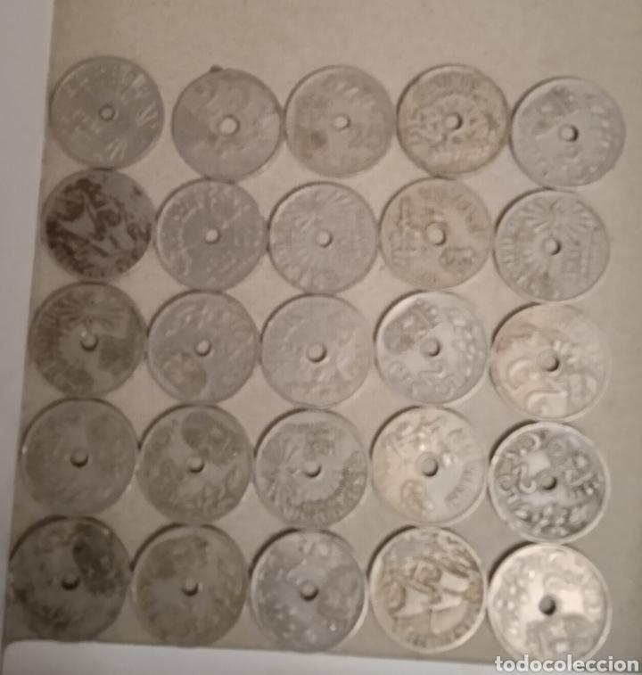 Monedas República: Lote de 25 monedas de 25 centimos España - Foto 4 - 264102835