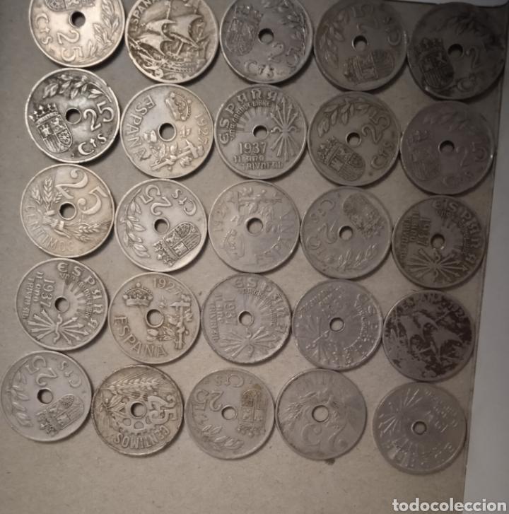 Monedas República: Lote de 25 monedas de 25 centimos España - Foto 5 - 264102835