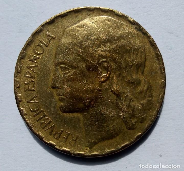 ESPAÑA II REPÚBLICA GOBIERNO DE ESPAÑA 1 PESETA 1937 (Numismática - España Modernas y Contemporáneas - República)