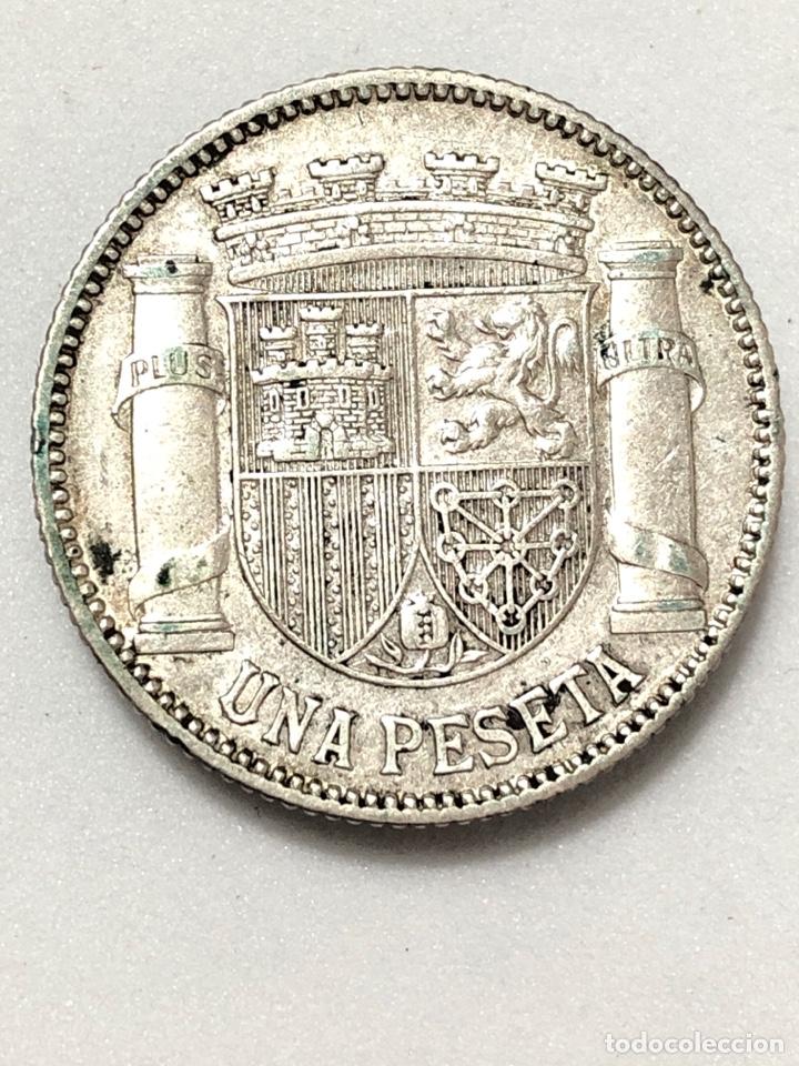 Monedas República: Una peseta de plata de 1933. II Republica Española. - Foto 4 - 265877034
