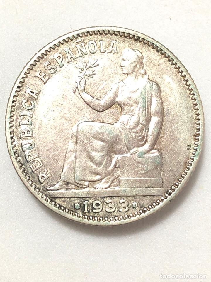 UNA PESETA DE PLATA DE 1933. II REPUBLICA ESPAÑOLA. (Numismática - España Modernas y Contemporáneas - República)
