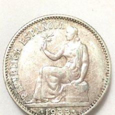 Monedas República: UNA PESETA DE PLATA DE 1933. II REPUBLICA ESPAÑOLA.. Lote 265877034