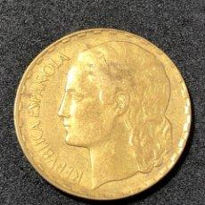 Monedas República: MONEDA DE PESETA DE 1937 . II REPUBLICA. LA RUBIA ORIGINAL.. Lote 265991398